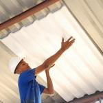 Isopor para isolamento térmico telhado